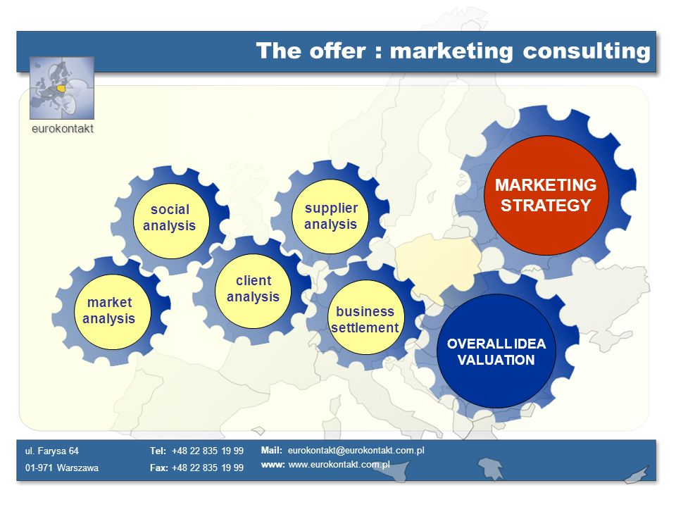 The offer : marketing consulting
