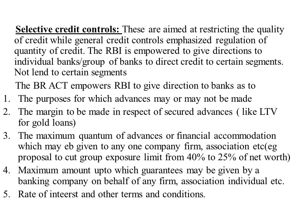 rbi control over commercial banks pdf