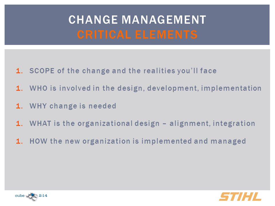 Definition of Change Management in Context