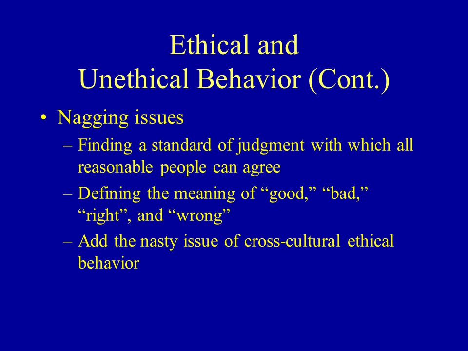 Ethical Theories in Business