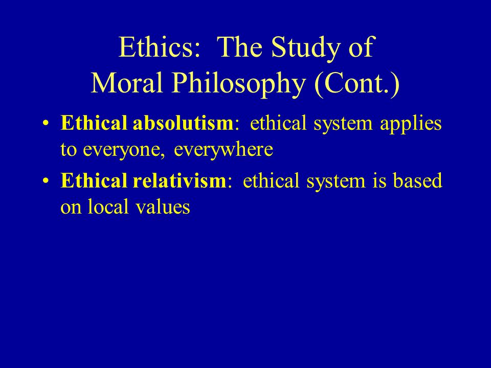 A discussion on the morality of society