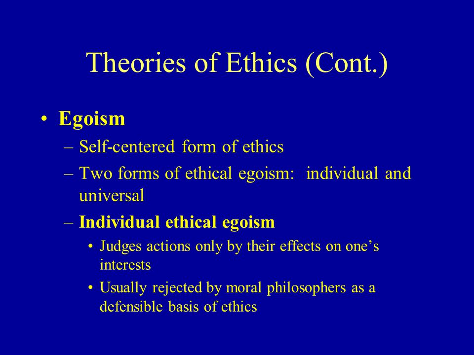 the effects of psychological egoism on personal behavior In the case of psychological egoism, the individual is attempting, consciously or  unconsciously, to hide the fact that their behavior is still.