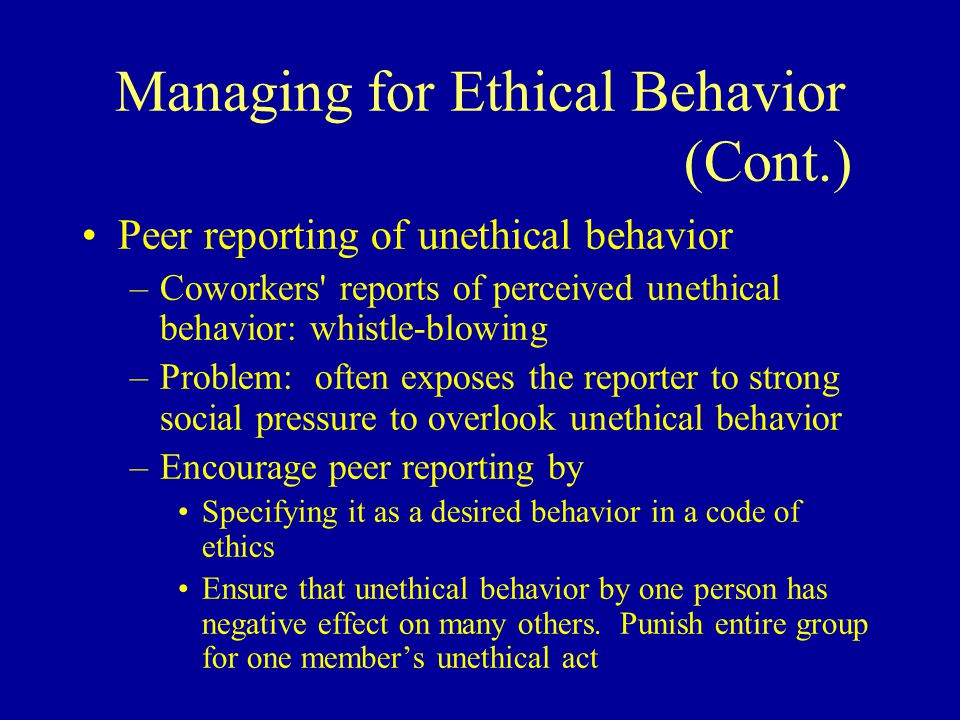 an analysis of chapter one of unethical behaviors in organizations 2015 cengage learning chapter 8 personal and organizational ethics 2   moral decisions, moral managers, and moral organizations summary 4  is on  creating an ethical organizational culture or climate, one in which ethical  behavior,.