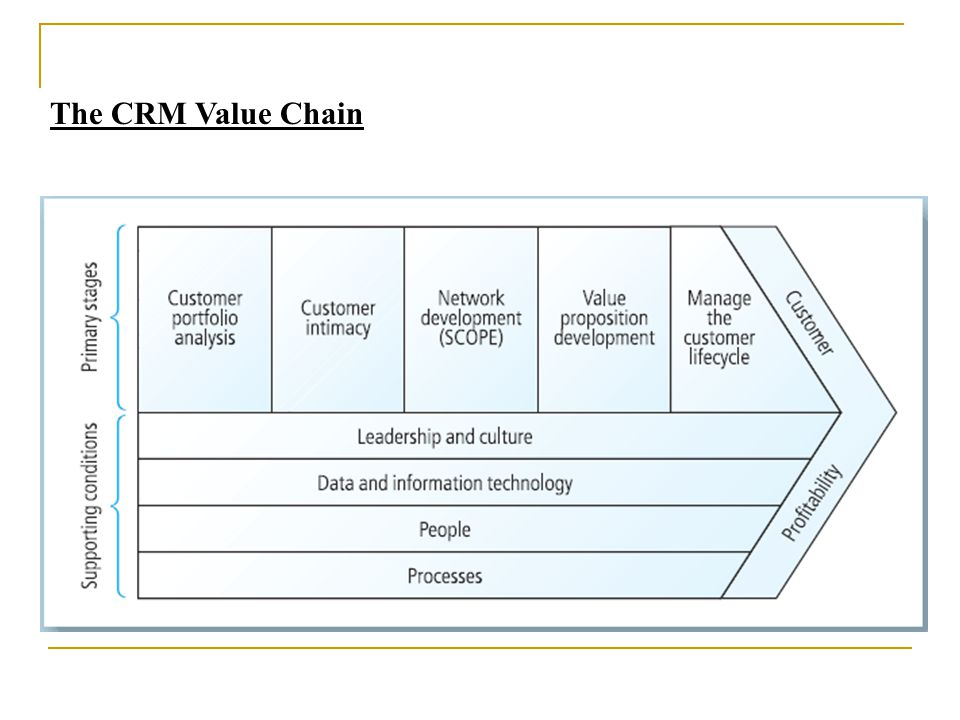 the crm value chain essay