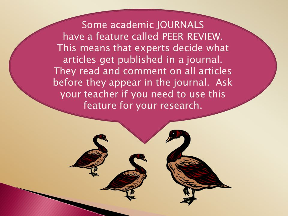 Some academic JOURNALS