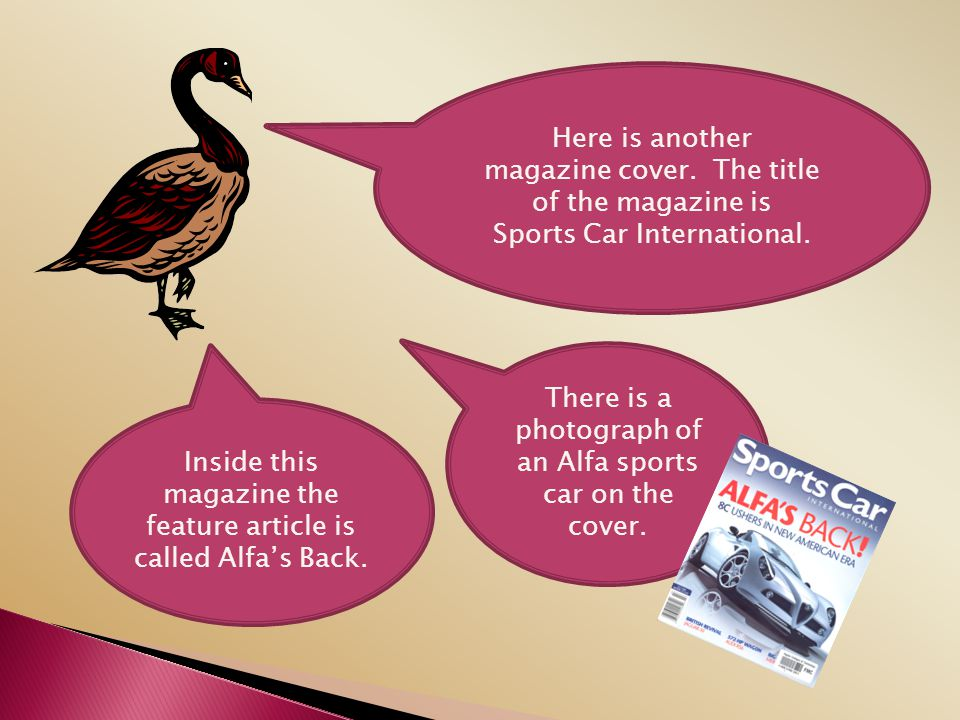 magazine cover. The title of the magazine is Sports Car International.
