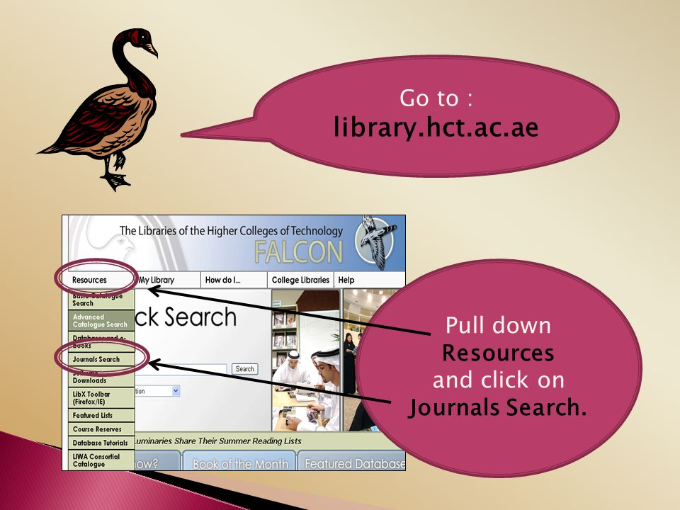 and click on Journals Search.