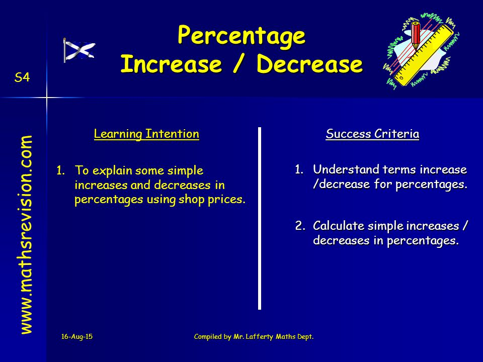 how to find the decrease percentage