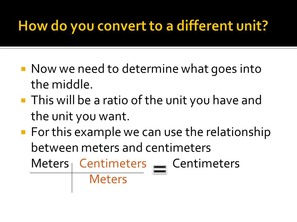 relationship between metre and centimetre