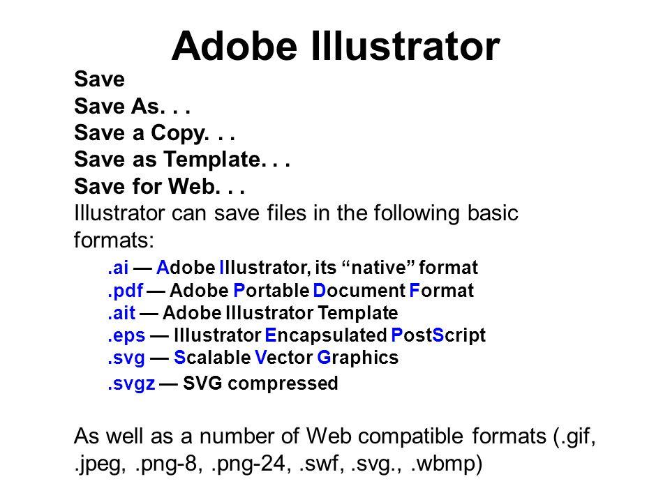 applications format