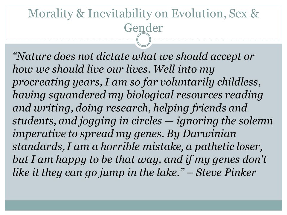 Biological sex to morality