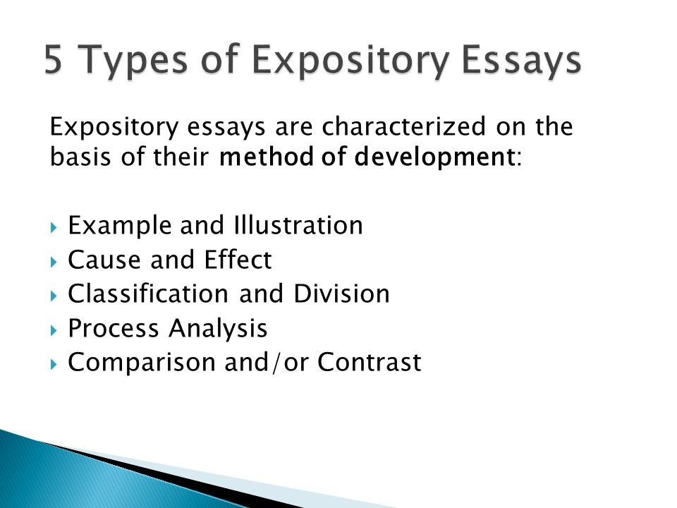 three types of expository essays