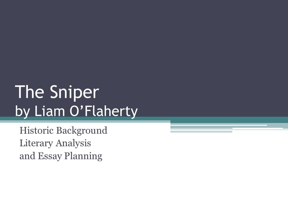 Analysis of the sniper by liam oflaherty english literature essay