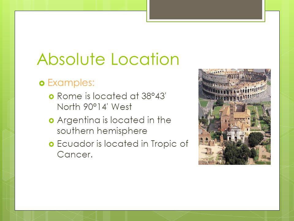 World Geography Basics Ppt Download - Jerusalem absolute location