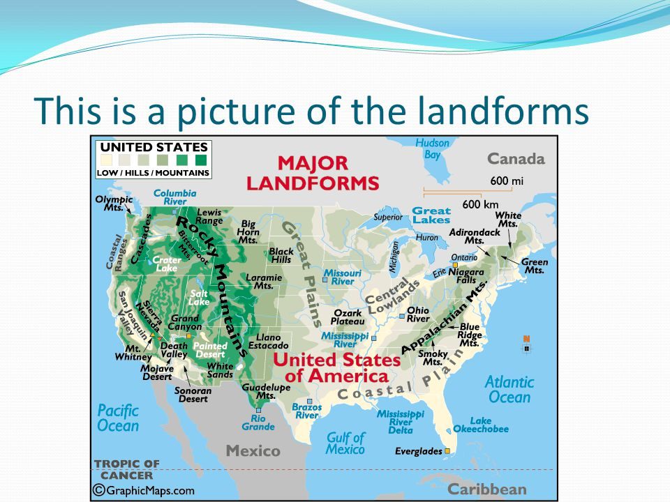 Landforms Of The United States Of America And USA Landforms Map - Sonoran desert on us map