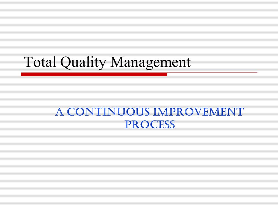 total quality management paper presentation