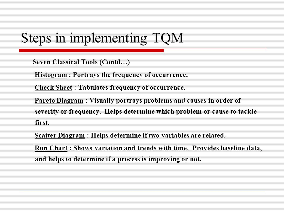 Total quality management ppt video online download steps in implementing tqm ccuart Choice Image