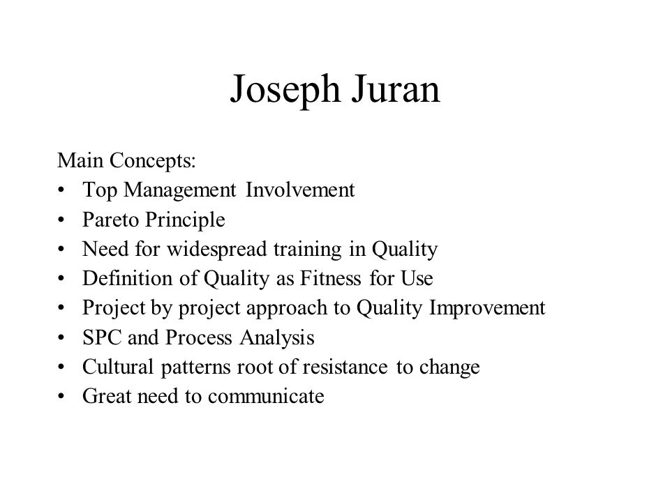 what is juran s definition of breakthrough improvement Quality improvement: as per juran triology,  this is achieved by a breakthrough improvement in performance  management's role in continuous improvement.