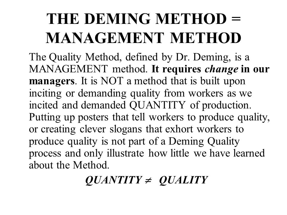 edward deming total quality management pdf