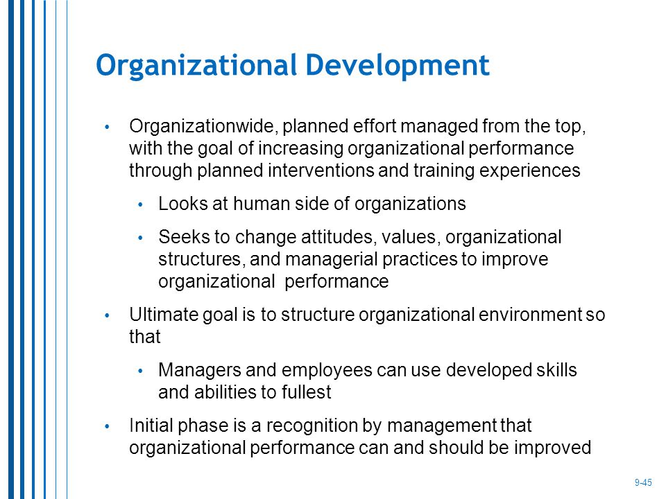 how to become an organizational development manager