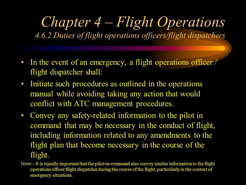 Chapter 4 – Flight Operations 4. 6