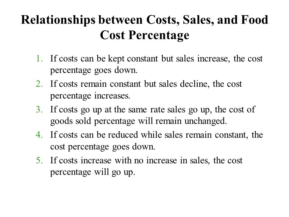 relationship between sales and production