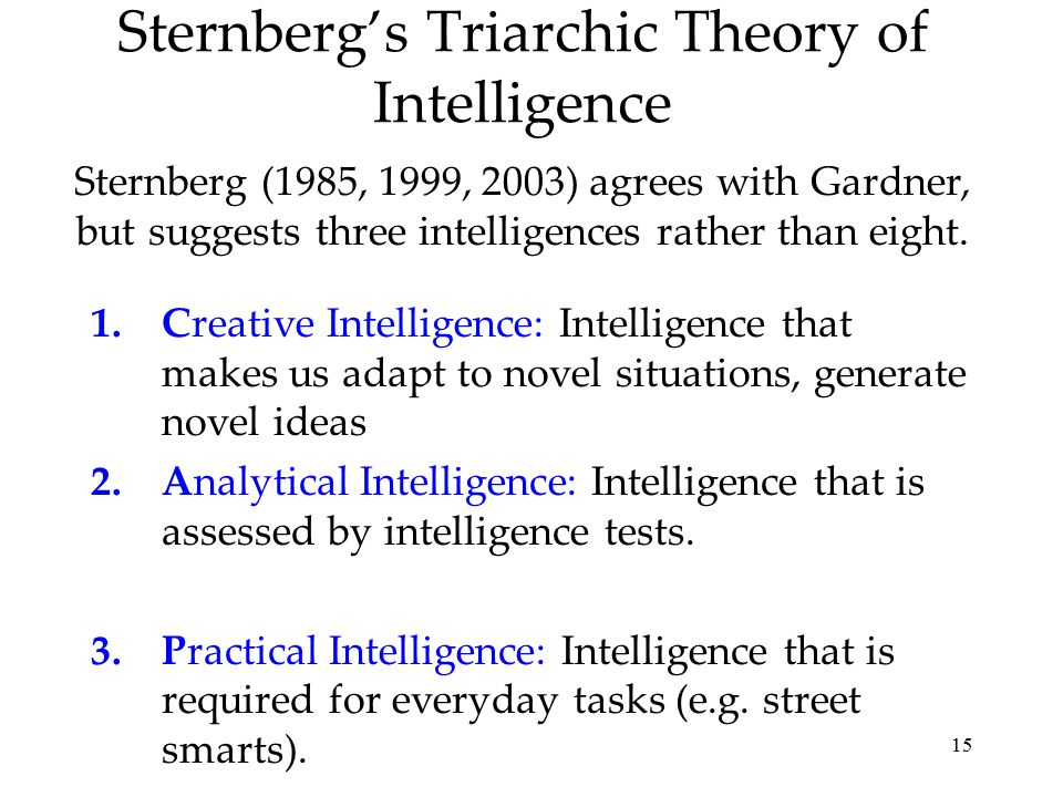 Applied History of Psychology/Theories on Intelligence/Gardner's theory about multiple intelligence