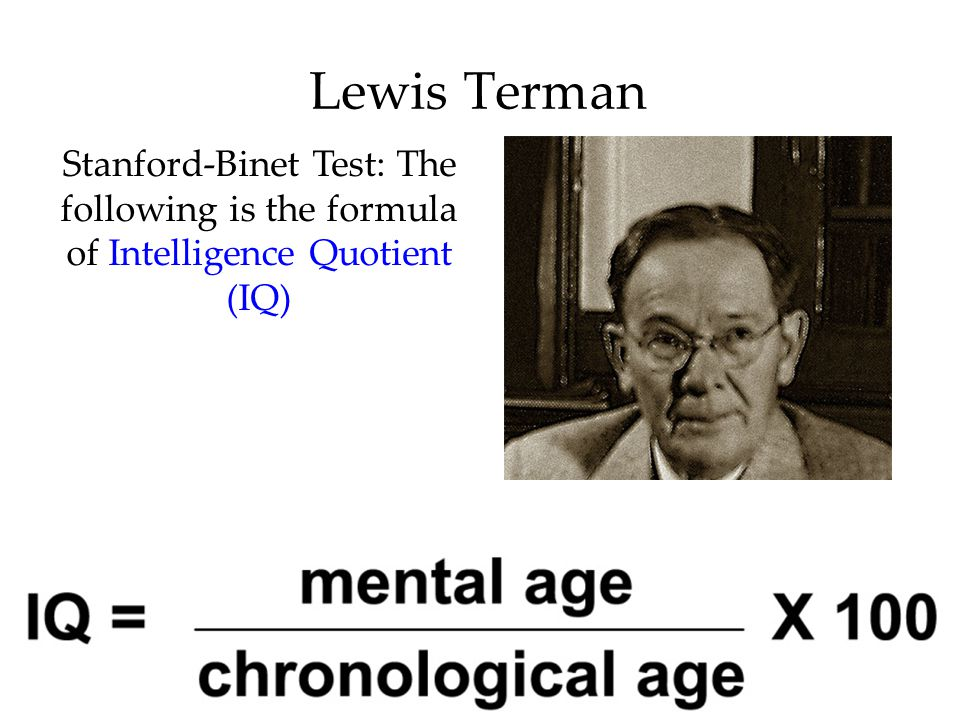 Image result for intelligence quotient Lewis Terman