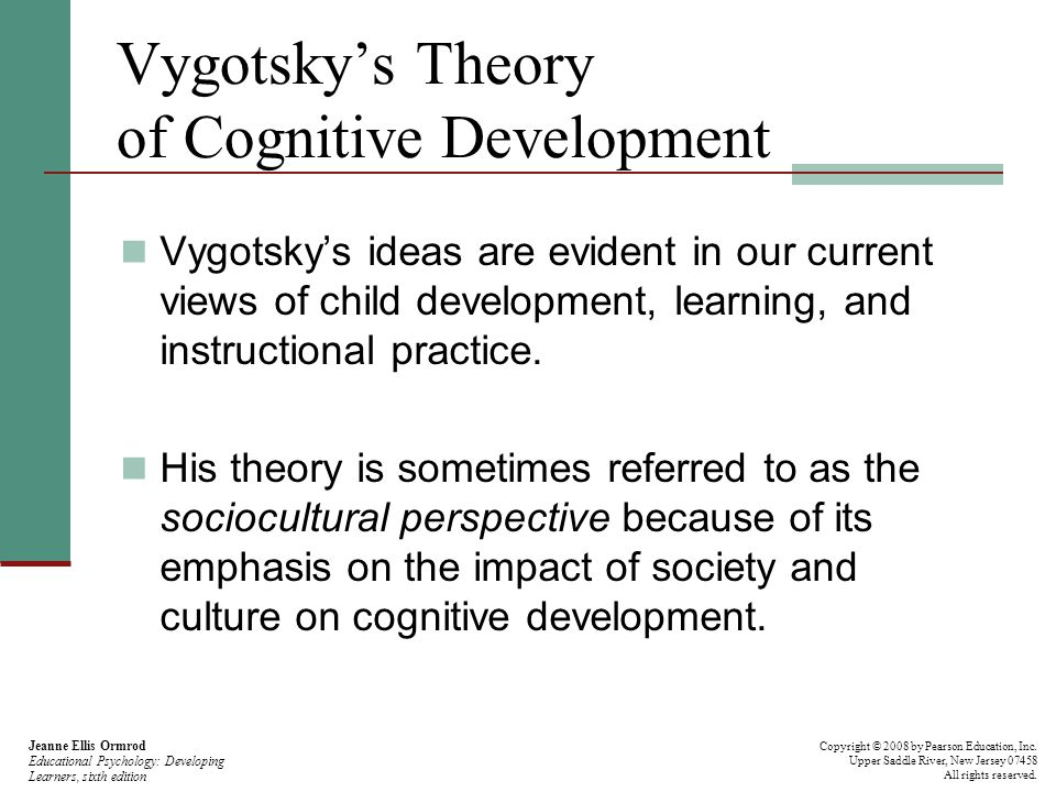 effects of culture on cognitive development Cognitive development is a field of study in neuroscience and psychology focusing on a child's development in terms of information processing, conceptual resources, perceptual skill, language learning, and other aspects of the developed adult brain and cognitive psychology qualitative differences between how a child processes its waking.