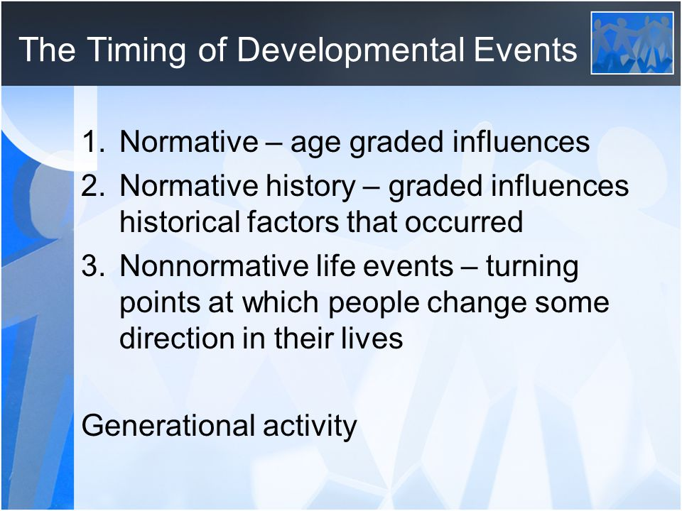 The Timing of Developmental Events