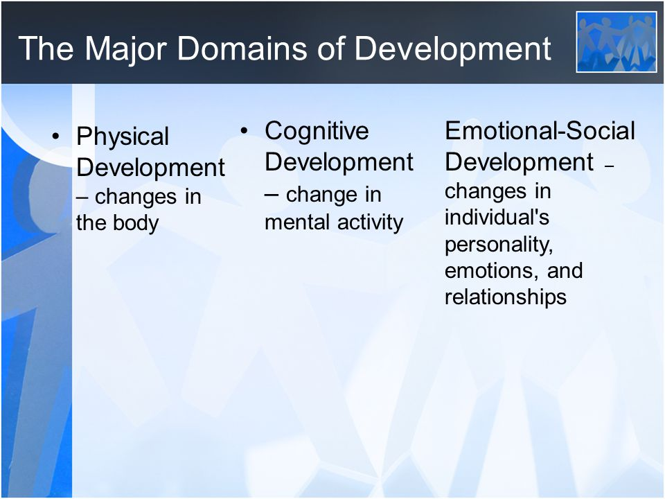 The Major Domains of Development