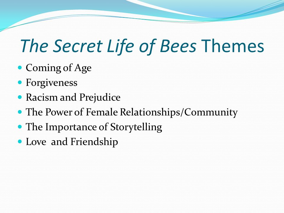 secret life of bees thematic interpretation The secret life of bees by sue monk kidd:  read chapters 1-10 of jane eyre and take notes on the thematic questions  interpretation,.