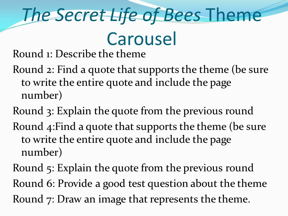 Quotes In The Secret Life Of Bees Enchanting The Secret Life Of Bees Themes  Ppt Video Online Download