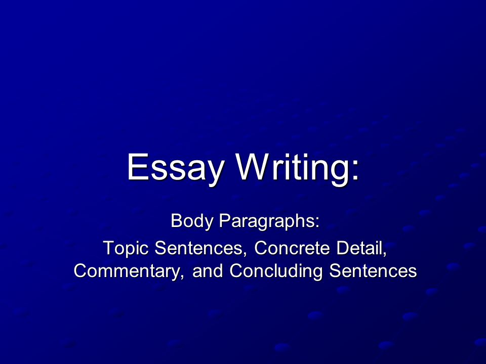 writing a commentary essay