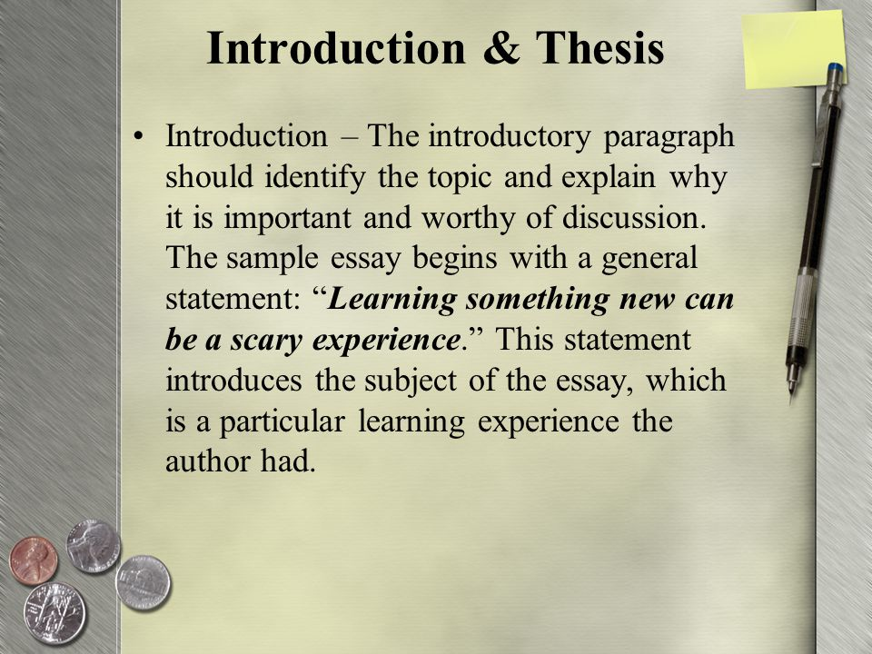 writing a first person essay and using connectors ppt video  18 introduction