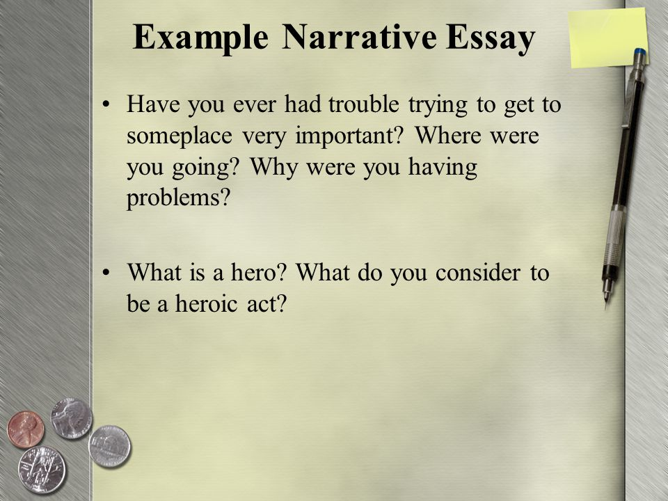 example of a hero essay
