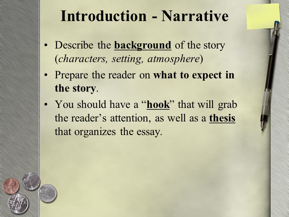 writing a first person essay and using connectors ppt video introduction narrative