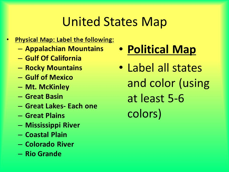 United States Map Political Map - ppt video online download