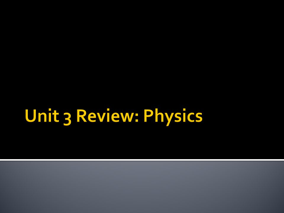 unit 3 review The nature of physical science chapter 2 motion chapter 3 forces chapter 4  chapter review quiz spanish unit 1 energy and motion  unit 3 energy on the move.