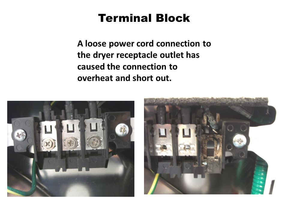 Terminal+Block+A+loose+power+cord+connection+to+the+dryer+receptacle+outlet+has+caused+the+connection+to+overheat+and+short+out. sumsingh dryer how to disconnect wire harness locking tab samsung  at bayanpartner.co