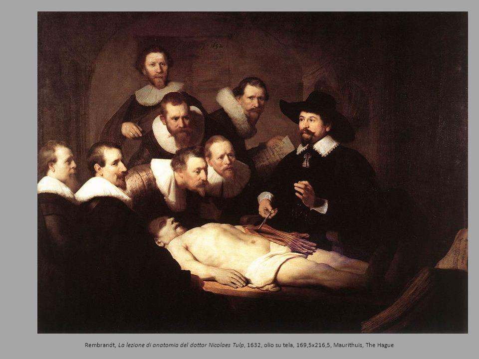 Rembrandt, La lezione di anatomia del dottor Nicolaes Tulp, 1632, olio su tela, 169,5x216,5, Maurithuis, The Hague