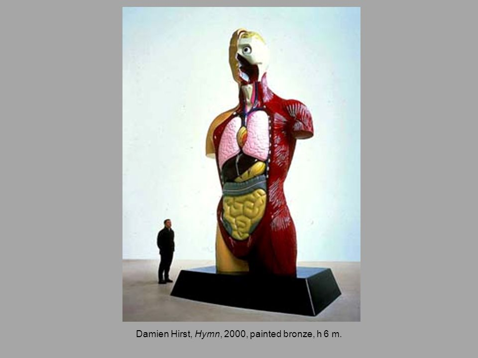 Damien Hirst, Hymn, 2000, painted bronze, h 6 m.