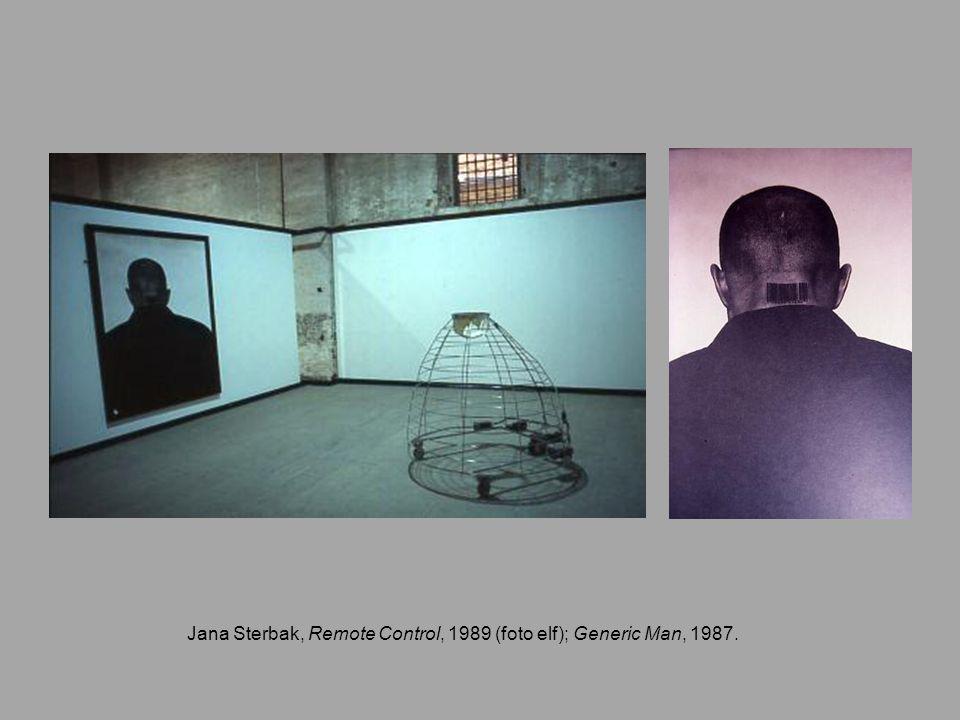 Jana Sterbak, Remote Control, 1989 (foto elf); Generic Man, 1987.