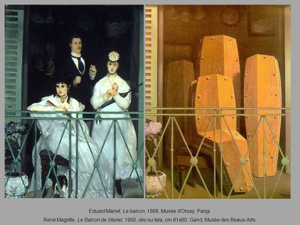 Eduard Manet, Le balcon, 1868, Musée d Orsay, Parigi.