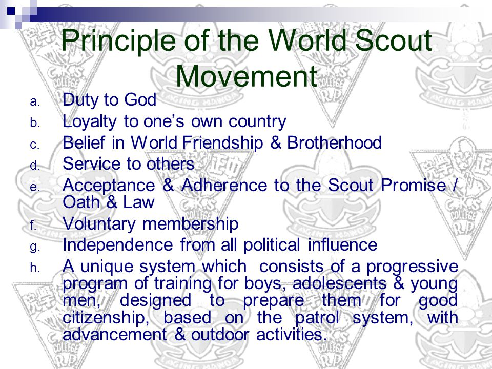 the influence and significance of the scouting movement This section provides some history on 1st subiaco and the scouting its significance and these represent the values of the scouting movement.