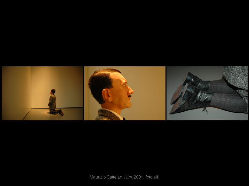 Maurizio Cattelan, Him, 2001, foto elf.