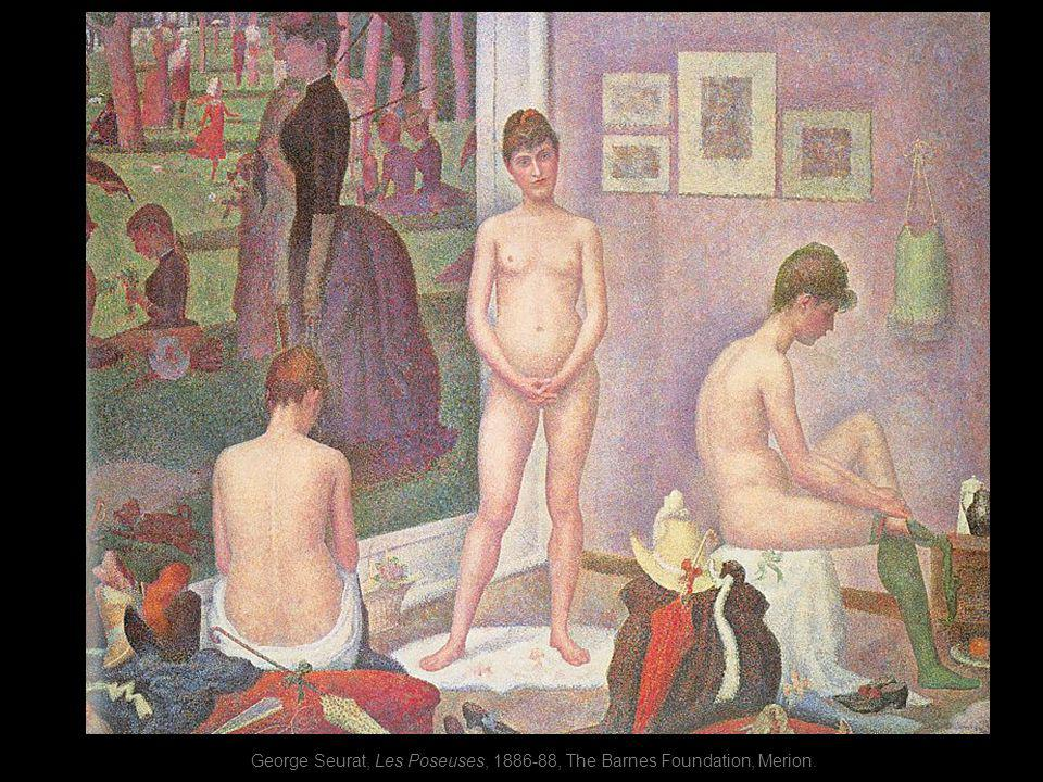 George Seurat, Les Poseuses, 1886-88, The Barnes Foundation, Merion.