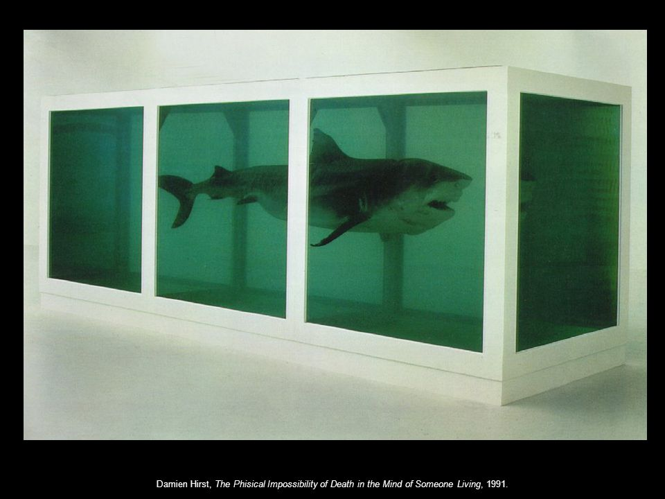 Damien Hirst, The Phisical Impossibility of Death in the Mind of Someone Living, 1991.