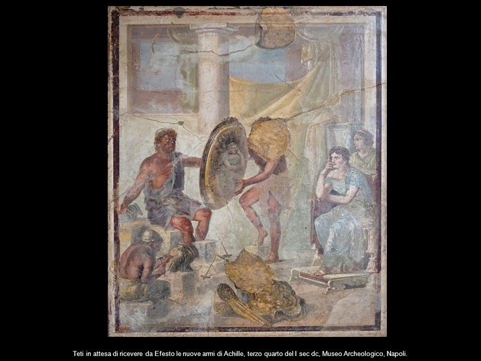 Teti in attesa di ricevere da Efesto le nuove armi di Achille, terzo quarto del I sec dc, Museo Archeologico, Napoli.