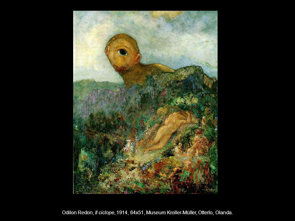 Odilon Redon, Il ciclope, 1914, 64x51, Museum Kroller-Müller, Otterlo, Olanda.